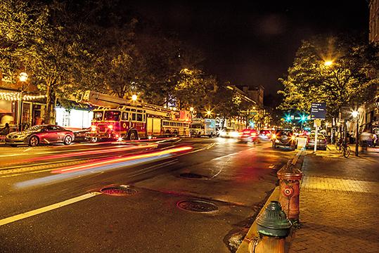 The Bustling City Streets of Philadelphia, PA