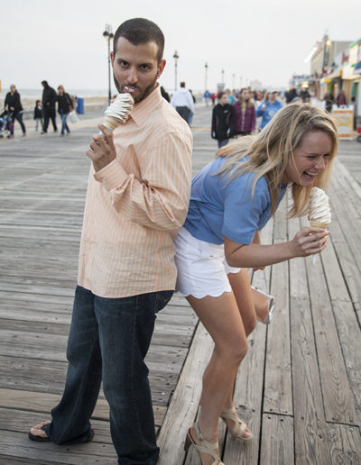 Fun Boardwalk Engagement Photos