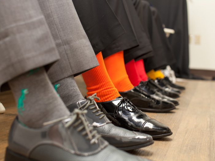 Groomsmen socks at a wedding in Mercer County, NJ