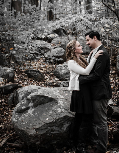 Engagement Portraits on a nature hike in the mountains