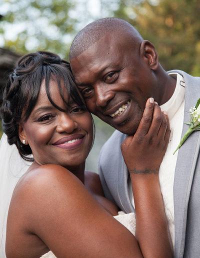 Romantic Portrait of the bride and groom during their Hamilton, NJ Wedding