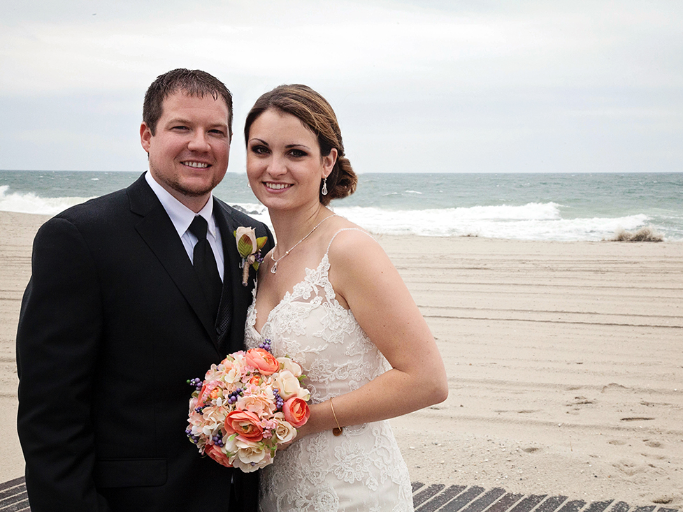 Wedding on the beach in Cape May, NJ