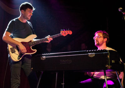Joe Dart on bass and Woody Goss of Vulfpeck music photography