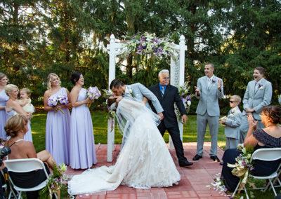 Beautiful outdoor wedding ceremony in Bristol, PA