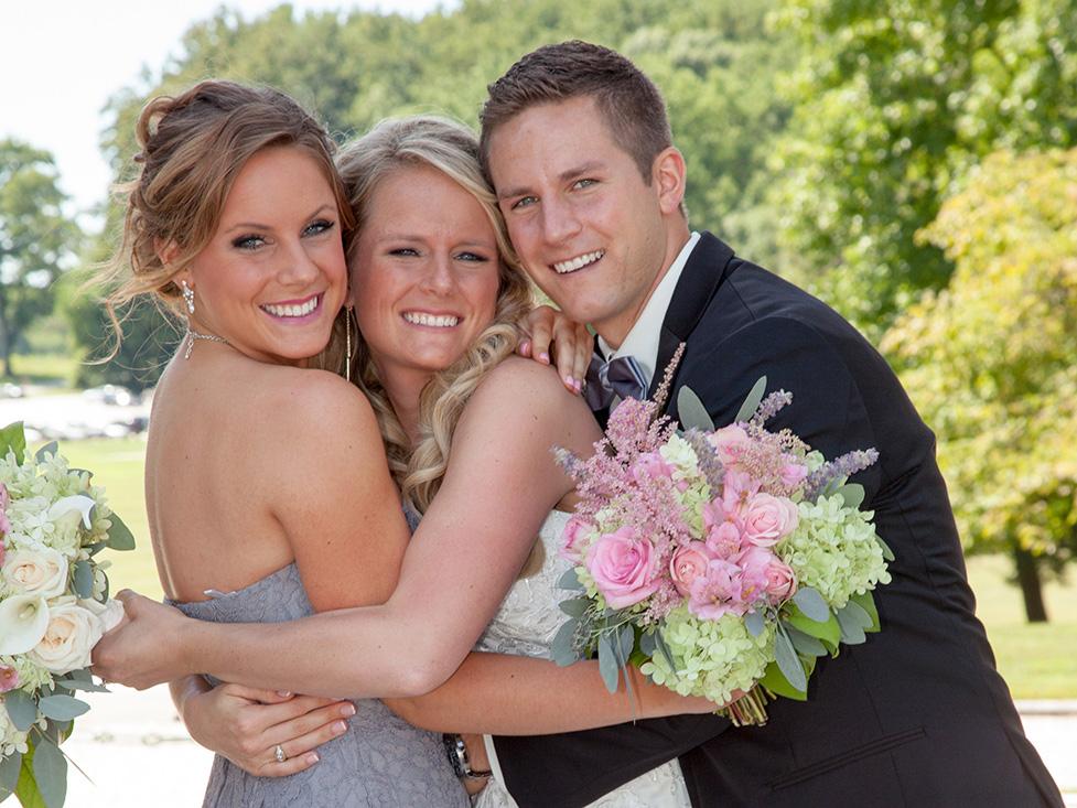 Family photos at a Morris County Wedding