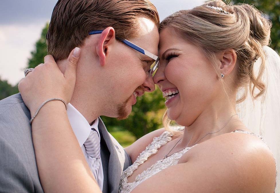 Bride and Groom at Cherry Valley Country Club